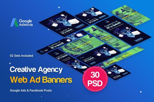 Creative Agency, Startup Banners Ad - 35BN75
