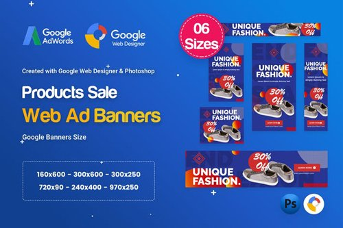 Product Sale Banners HTML5 D51 Ad - GWD & PSD - F2L6MZ