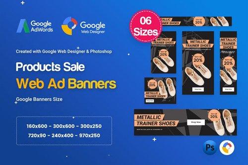 Product Sale Banners HTML5 D50 Ad - GWD & PSD - 8L5JNN