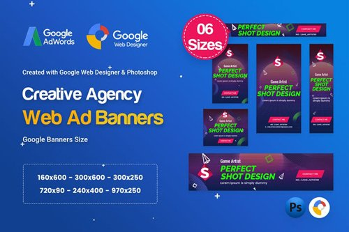 Creative, Startup Agency Banners HTML5 D41 - GWD - FHNQ2U