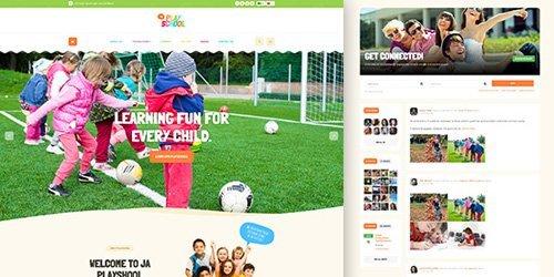 JoomlArt - JA Playschool v1.0.3 - Creative and Colorful Joomla Template For Playschool