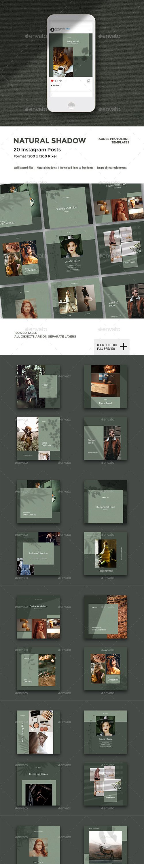 GraphicRiver - Natural Shadow - Instagram Pack 23127172