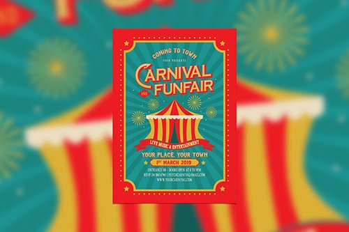 Vintage Carnival and Funfair PSD
