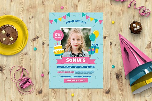 Birtyhday Party Invitation PSD