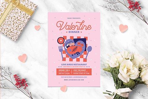 Valentine Dinner PSD
