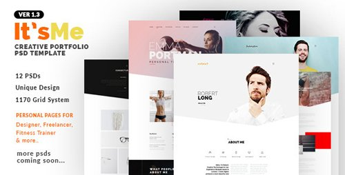 ThemeForest - It'sMe v1.3 - Creative Portfolio PSD Template - 10656357