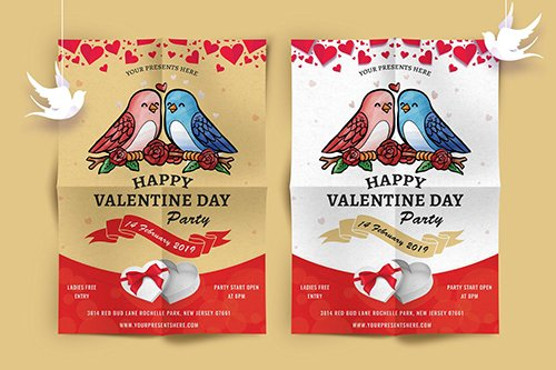 Valentines Day Party Flyer-07 PSD