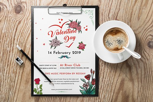 Valentines Day Party Flyer-06 PSD