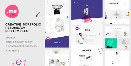 ThemeForest - Me v1.0 - Creative Portfolio & Resume / CV PSD Template - 17711347