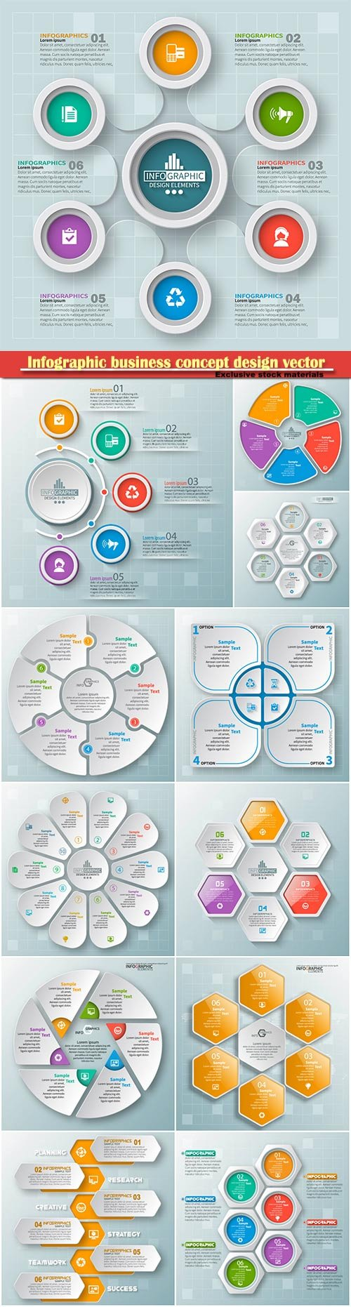 Infographic business concept design vector illustration # 3