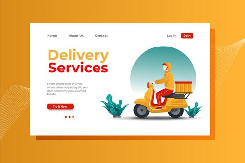 Delivery Service Landing Page Illustration