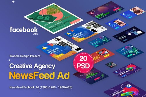 Creative Agency, Startup, Studio Facebook Newsfeed - 6HSP42