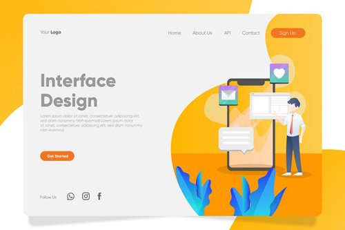 Interface Design - Banner & Landing Page