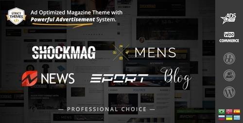 ThemeForest - Shockmag v1.2.4 - Ad Optimized Magazine WordPress Theme with Powerful Advertisement System - 13341720