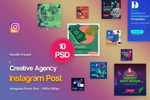 Creative Agency, Startup, Studio Instagram Posts - 4VGA76