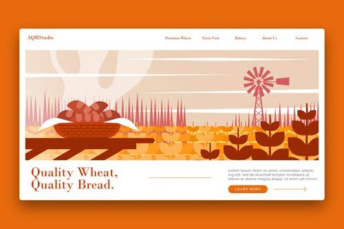 Farm Wheat Farm - Banner & Landing Page
