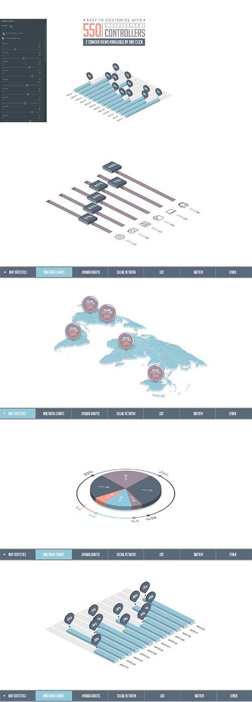 Isometric Infographics Bundle 162229