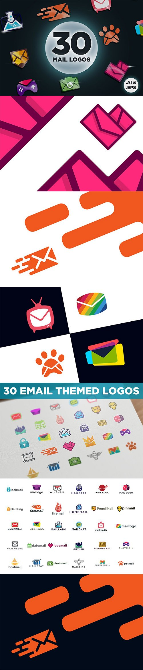 Modern Email and Mail Logos
