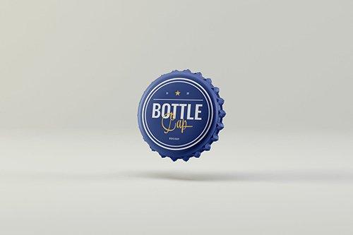 Bottle Cap Mockups PSD