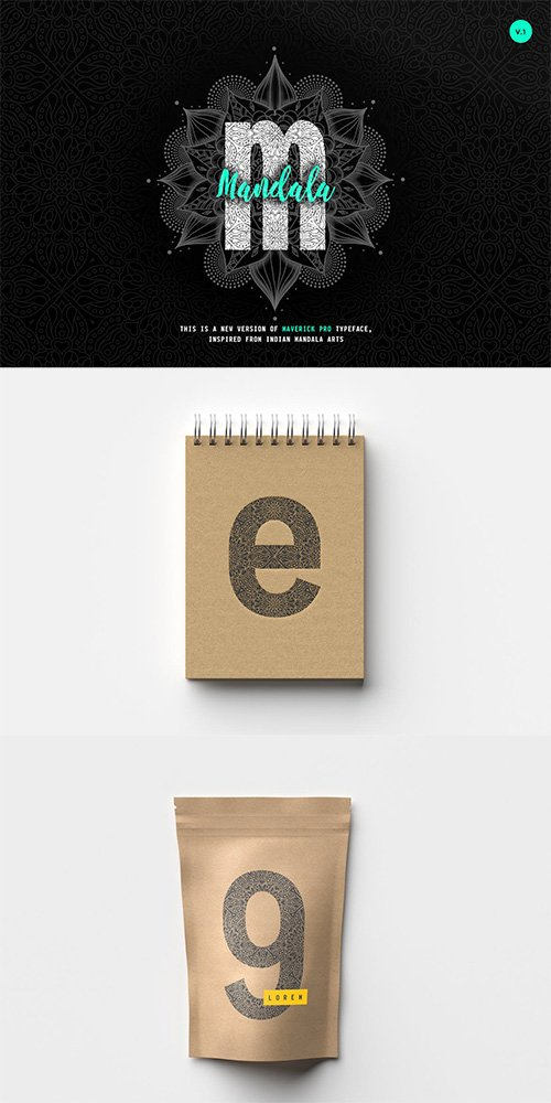 Maverick Mandala - Textured Typeface + WebFont