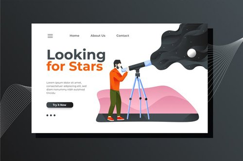 Astronomy Landing Page Illustration