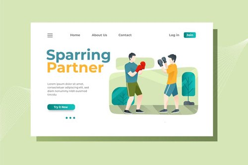 Boxing Landing Page Illustration