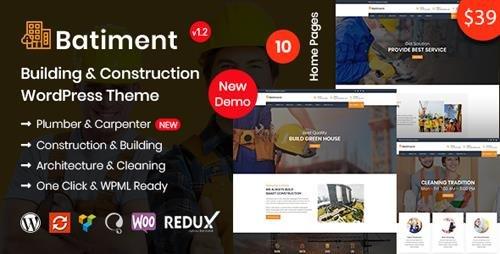 ThemeForest - Batiment v1.1 - Construction & Building WordPress Theme - 22094943