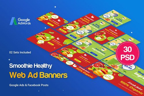 Smoothie Bar & Healthy Drinks Shop Banners Ad - GAATC3