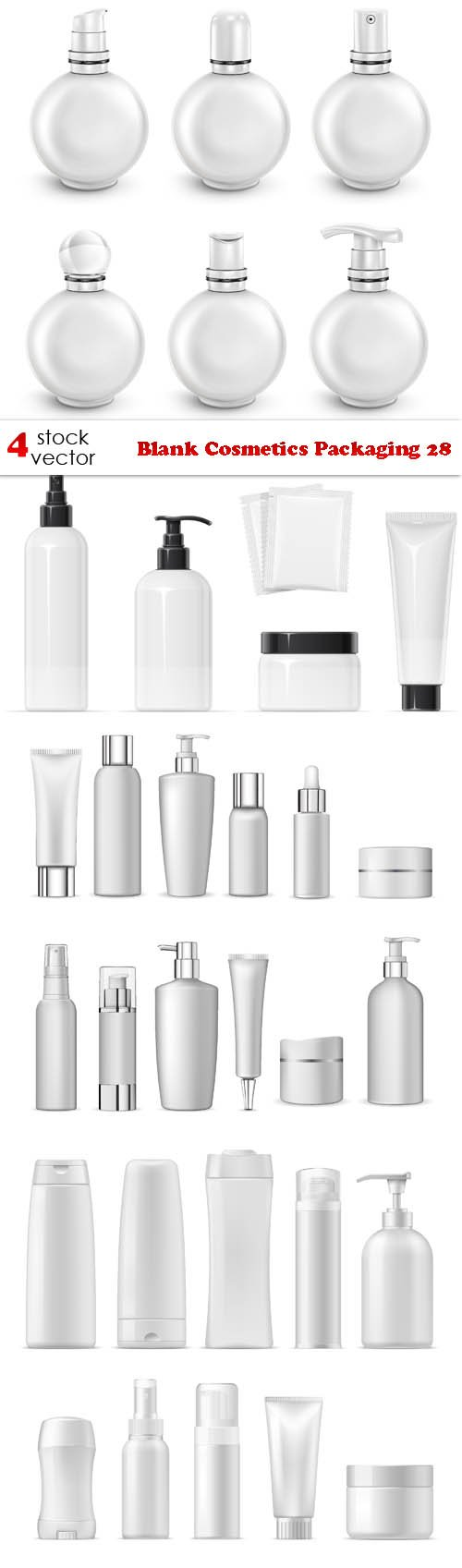 Vectors - Blank Cosmetics Packaging 28