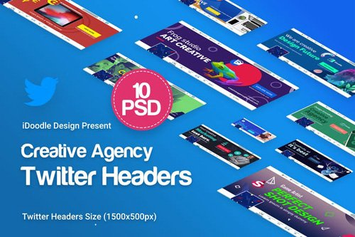 Creative Agency, Startup, Studio Twitter Headers - ZPWMJZ