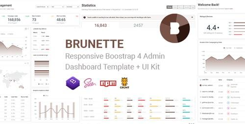ThemeForest - Brunette v1.0 - Responsive Bootstrap 4 Admin & Powerful UI Kit - 23158239