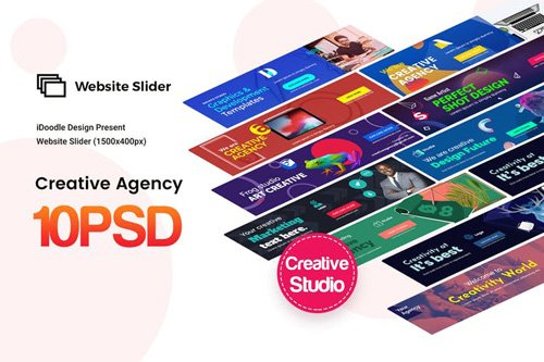 Creative Agency, Startup, Studio Website Sliders - JC8LL7