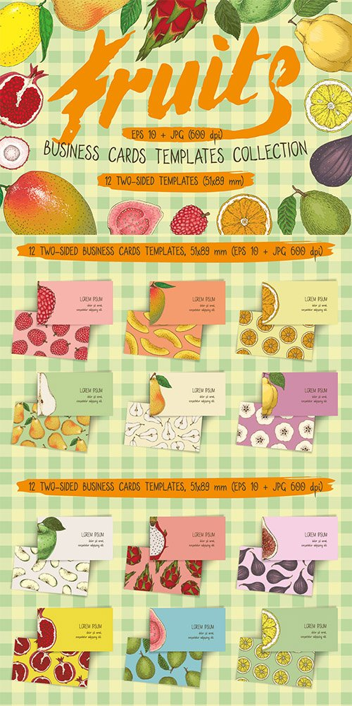 Fruit Business Cards Templates