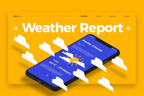 Weather Report - Banner & Landing Page