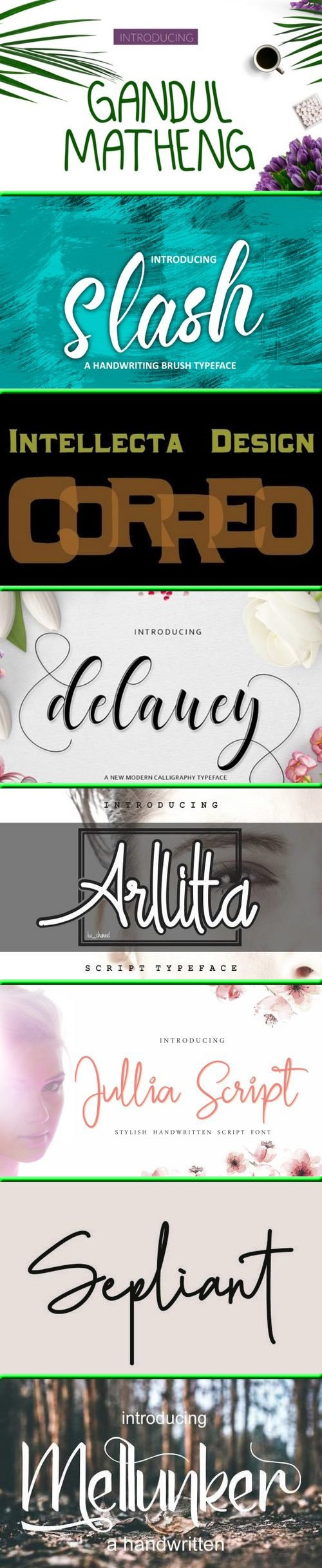 Fonts Bundle Vol.75 2019