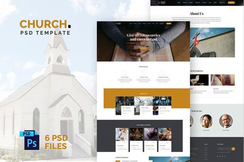 The Church PSD Template