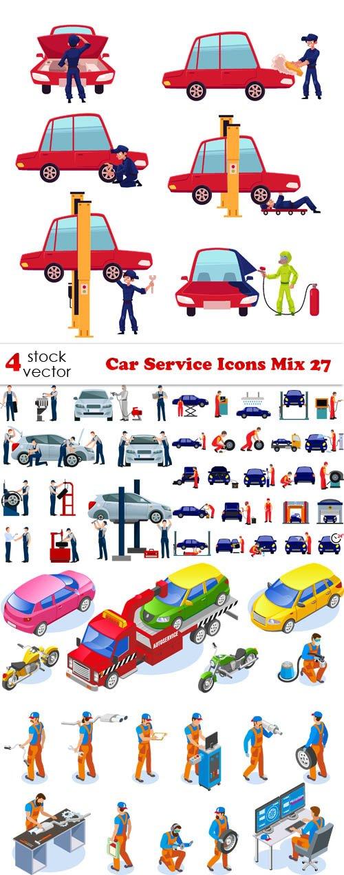 Vectors - Car Service Icons Mix 27