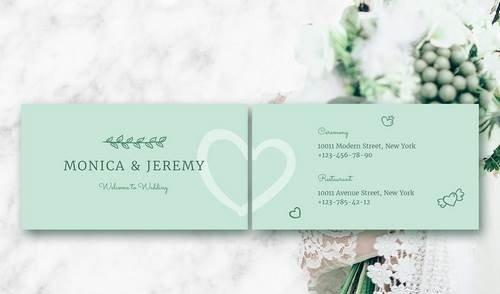 Monica Wedding Business Card Template