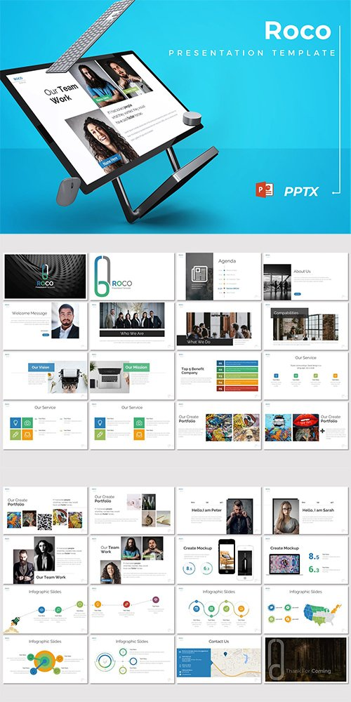 Roco - Powerpoint Keynote and Google Slides Templates