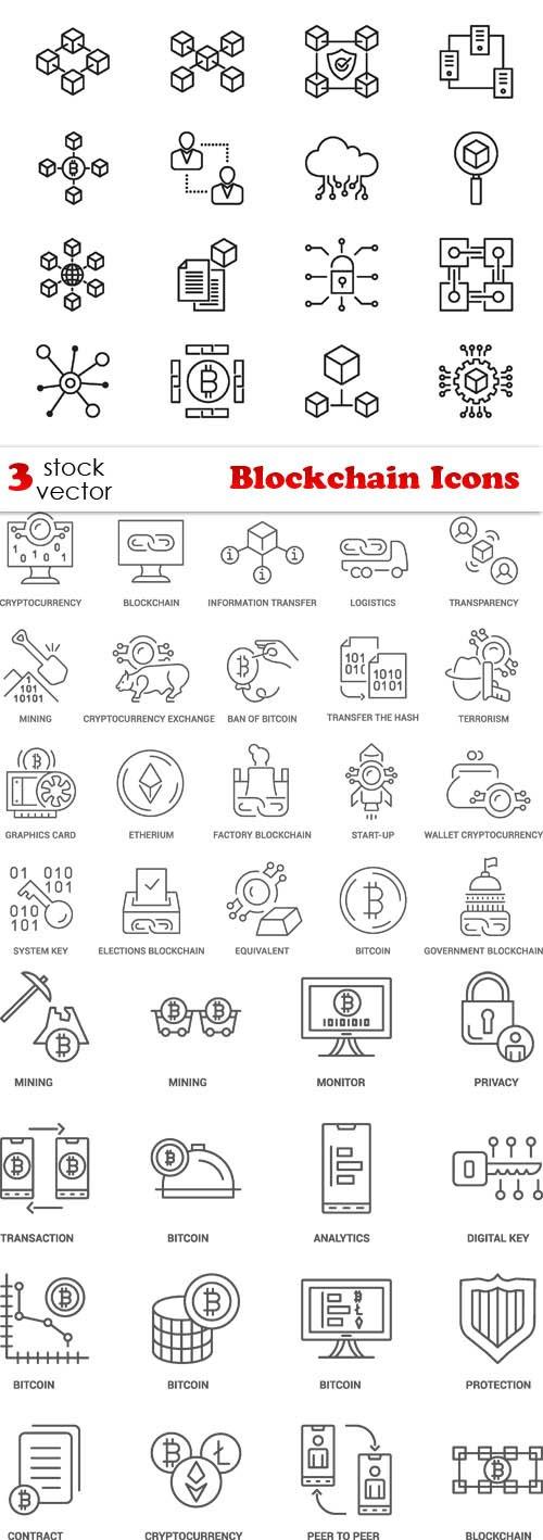 Vectors - Blockchain Icons
