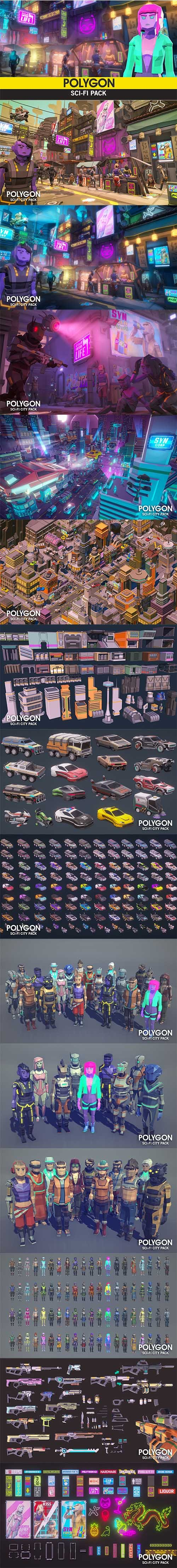 POLYGON - Sci-Fi Pack Low-poly 3D model