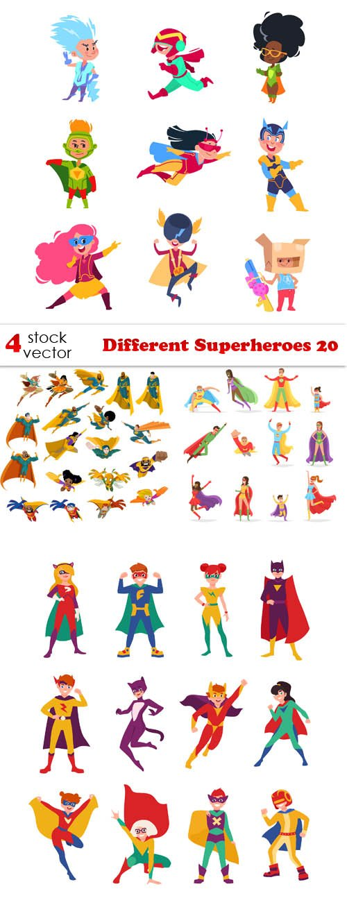 Vectors - Different Superheroes 20