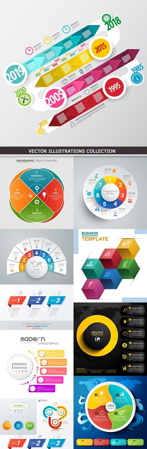 Modern infographics business options elements 26