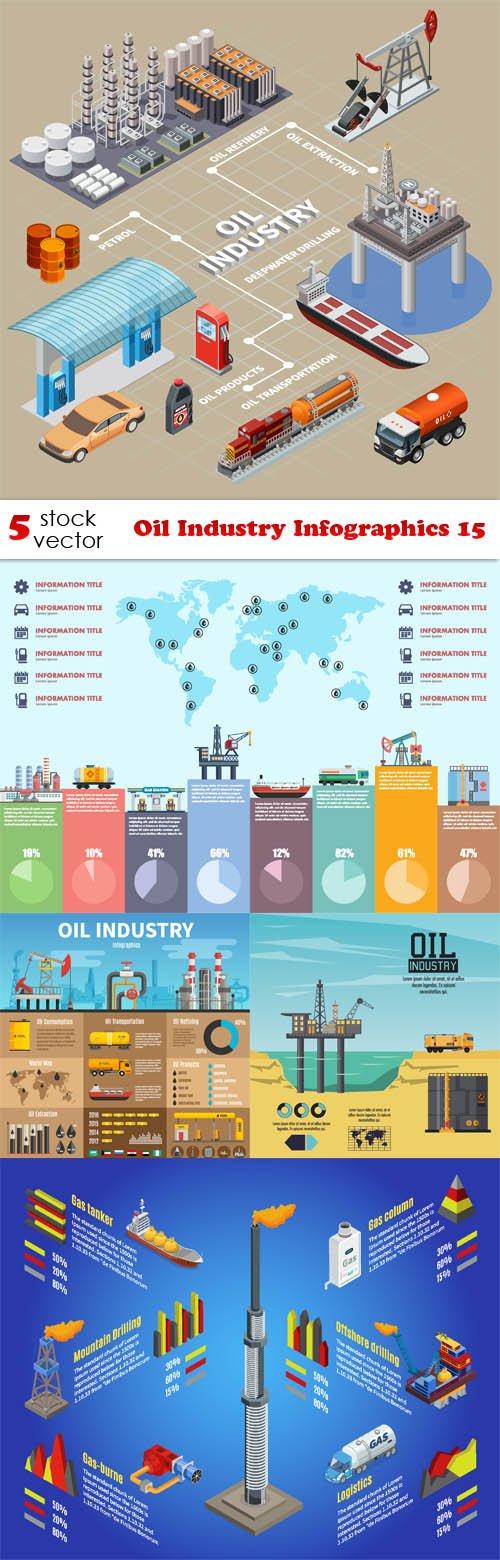 Vectors - Oil Industry Infographics 15