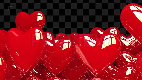 MA - Heart Balloons Text Reveal Template 135765