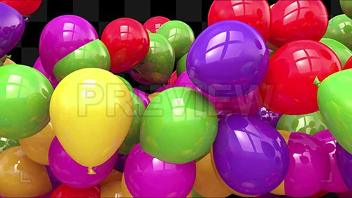 MA - Party Balloons Text Reveal Template 135106