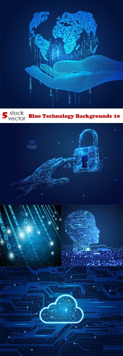 Vectors - Blue Technology Backgrounds 10