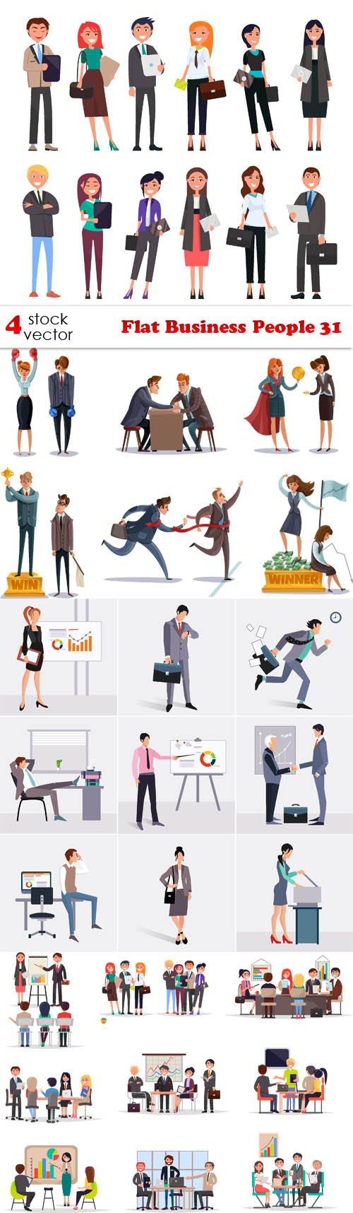 Vectors - Flat Business People 31