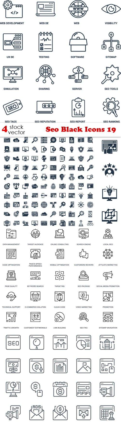 Vectors - Seo Black Icons 19