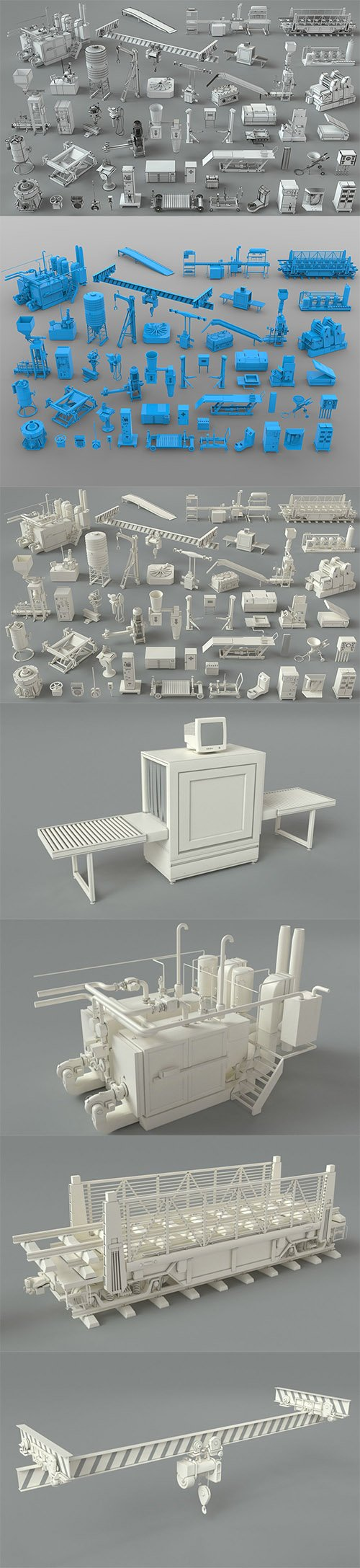 Factory Units-part-3 - 49 pieces 3D model